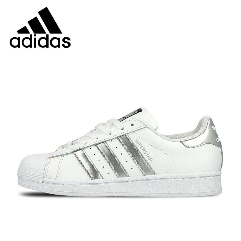 Original Authentic Adidas SUPERSTAR Breathable Women's And Men's Skateboarding Unisex Shoes Athletic Designer Footwear B27136