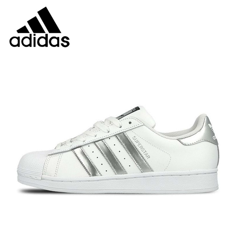 Original Authentic Adidas SUPERSTAR Breathable Women's and Men's Skateboarding Unisex Shoes Athletic Designer Footwear B27136 image