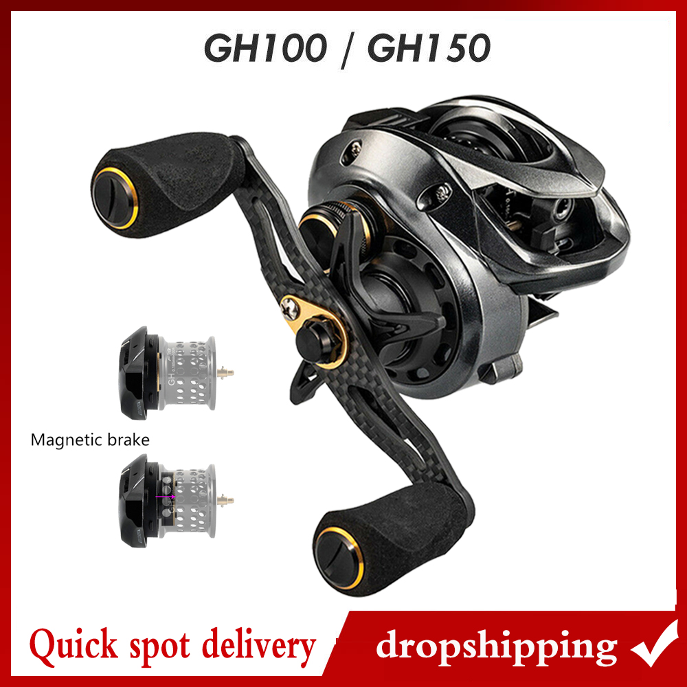 2019 Winter Fishband Baitcasting Reel Gh100 Gh150 7.2: 1 Carp Bait Casting Reel Fishing For  Perch Tilapia Bass Fishing Tackle