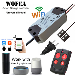 Wofea universal inteligente abridor de porta da garagem controlador para a garantia + 2.0 trabalho abridor com alexa echo google casa nenhum hub exigir