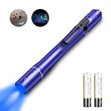 WUBEN E19UV LED UV Flashlight Lantern Ultraviolet Torch 365nm AAA battery Light for Money detection