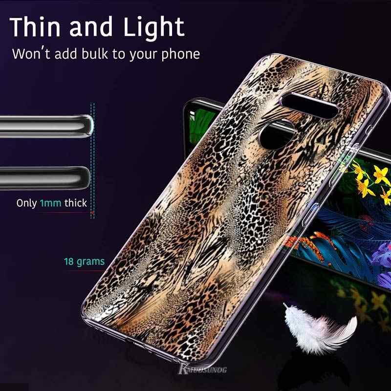 Luipaard print Snake skin art Stijl voor LG W20 W10 V50S V50 V40 V30 K50S K40S K30 K20 Q60 Q8 q7 Q6 G8 G7 G6 ThinQ Telefoon Case