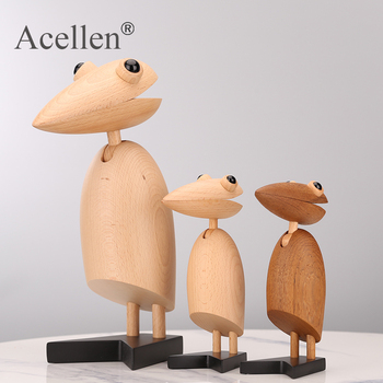 Handmade drewniane figurki klip ptak dzięcioł dzieci pokój sypialnia salon akcesoria do dekoracji domu ozdoby prezent zabawki