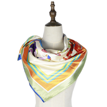 polyester silk scarf small square hijabs birds print neck scarf hombre shawls femme mujer bufandas invierno mujer neckwear цены