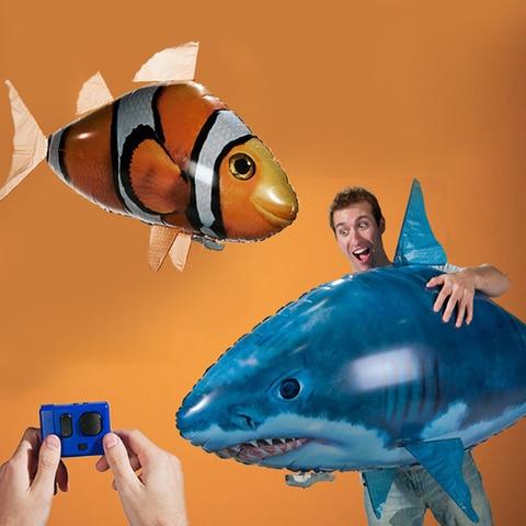 controle remoto tubarao peixe brinquedos de natacao ar rc brinquedo animal infravermelho rc voando baloes