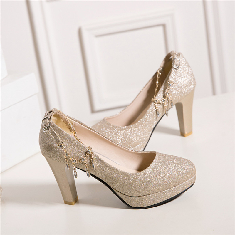Fashion Female High Heels Sexy Shoes Luxury Gold Silver Pink Women's Heels Pumps Party Office Wedding Shoes New Designer 5