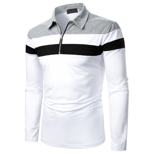 Men's Long Short Sleeve Polo Shirt