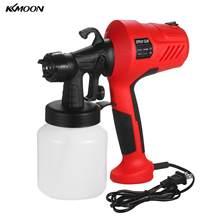 Kkmoon pistola de pintura elétrica, pistola pulverizadora de tinta de alta pressão para carro e casa, spray ajustável com tinta removível hvlp