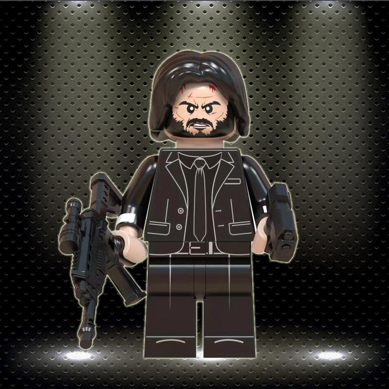 John Wick Legoeinglys Movie MINIFIGURED Model Building Blocks Children Toys Game Of Thrones Christmas Gifts WM830