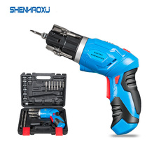 4V Cordless Electric Screwdriver 1300mah Lithium Battery Rechargeable Multi-function Mini Drill Power Tools LED WIth 45PCS Bits