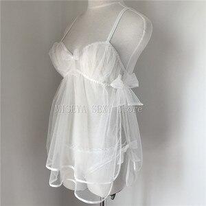 Image 2 - Pyjama de mariage blanc recommandé pour lété, ensemble avec nœud avant et dos nu hauts short, Lingerie Sexy
