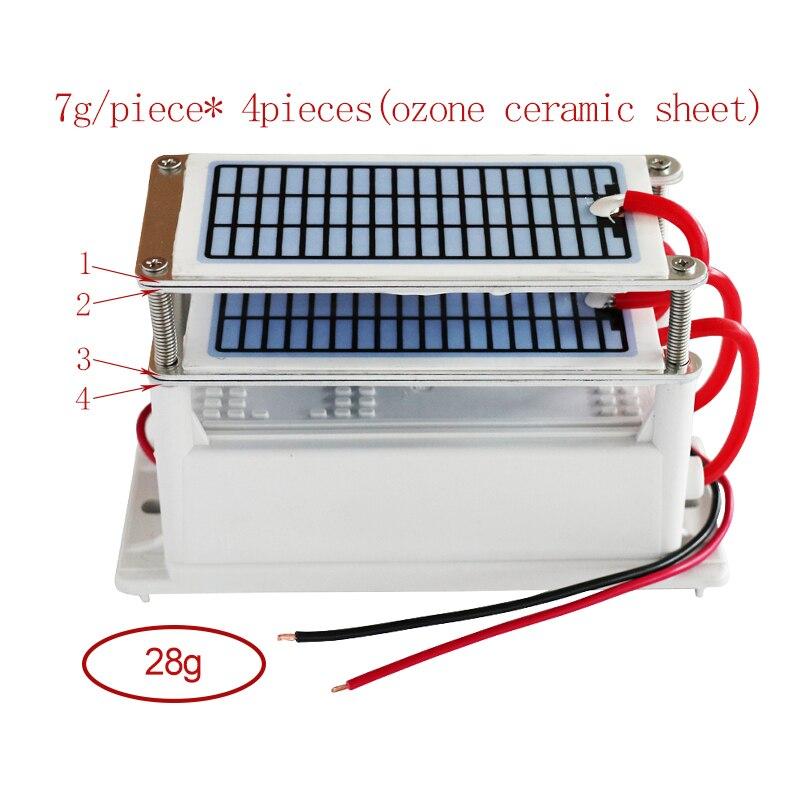 Generador de ozono de 220V, purificador de aire de 28 g/h, ozonizador para el agua, esterilizador de aire, tratamiento, eliminación de formaldehído, máquina de ozono Generador de ozono para aire 30g 50 g/h 110/220V, purificador de aire, esterilizador, ozonizador, portátil, esterilizador con interruptor de sincronización