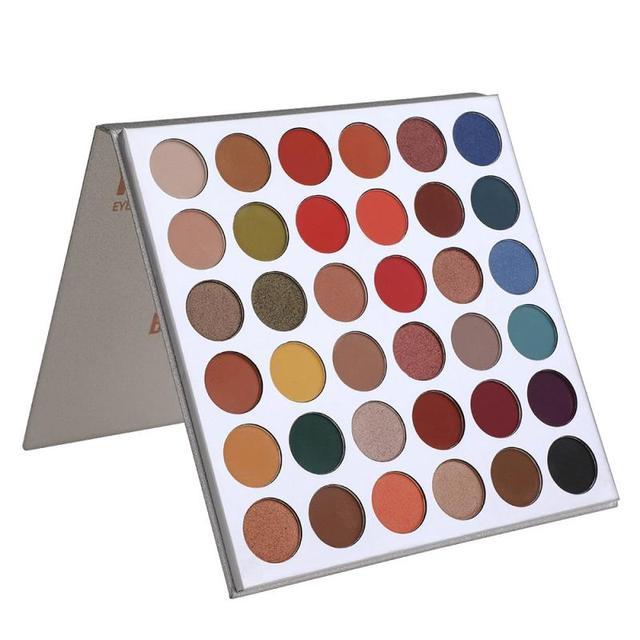 Beauté émaillée 36 couleurs Studio nacré mat fard à paupières Palette paillettes surligneur miroitant maquillage Pigment ombre à paupières Palette