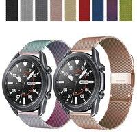 Cinturino Milanese per Samsung Galaxy watch 3 45mm 41mm/Active 2 46mm/42mm Gear S3 Frontier 20mm 22mm bracciale Huawei GT/2/2e band