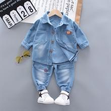 Toddler Boys Clothing Sets Spring Autumn Kids Denim top + je