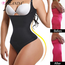 Women Shapewear Bodysuit Thong Body Shaper Slimming Underwear Weight Loss Fat Burner Tummy Control Bodybriefer Waist Cinchers
