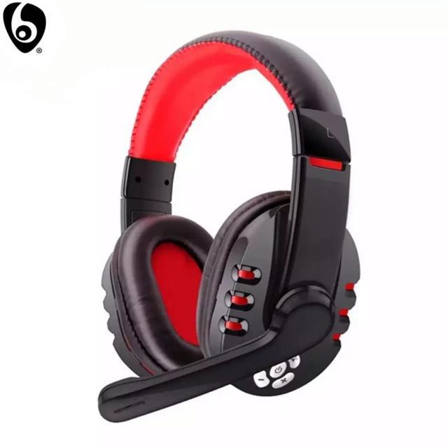 OVLENG V8 1 Over Ear Wireless Bluetooth Headphones Headset Gamer Support Microphone Gaming Earphones with LED Button