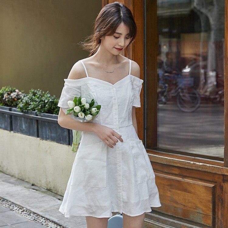 Short-height Dress Fairy Immortal Sweet And Sexy Camisole Skirt Elegant Very Fairy Of France Non-mainstream Platycodon Grandiflo
