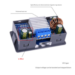 Image 5 - ZK 4KX Cnc Dc Dc Buck Boost Converter Cc Cv 0.5 30V 4A Power Module Verstelbare Gestabiliseerde Voeding voor Solar Batterij Opladen