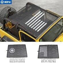 MOPAI araba üst güneşlik kapak Jeep Wrangler TJ 1997 2006 için araba gövde çatı Anti UV güneş koruyucu yalıtım hamak yatak yastığı Net