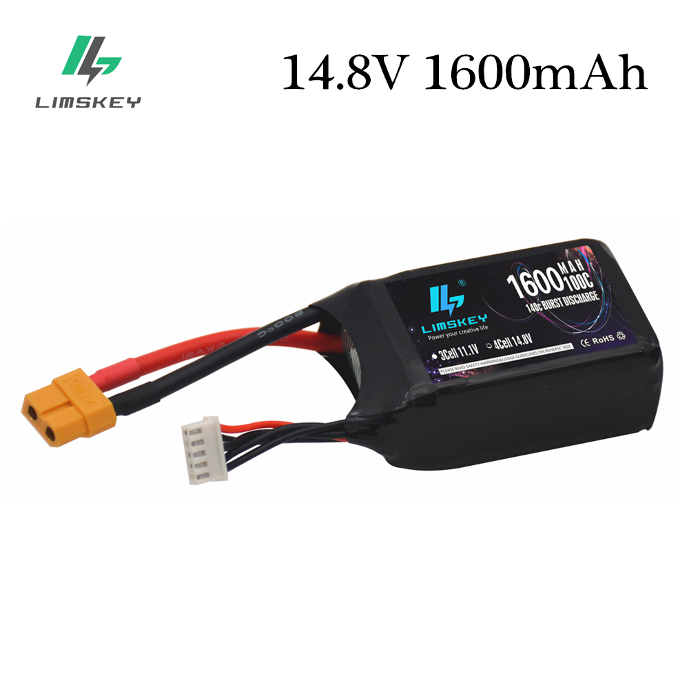 14.8V RC Battery Charger 1600mAh 4S RC Lipo Battery Softcase 100C Lipo with XT60 Plug for RC Car Truck Airplane FPV Drone image