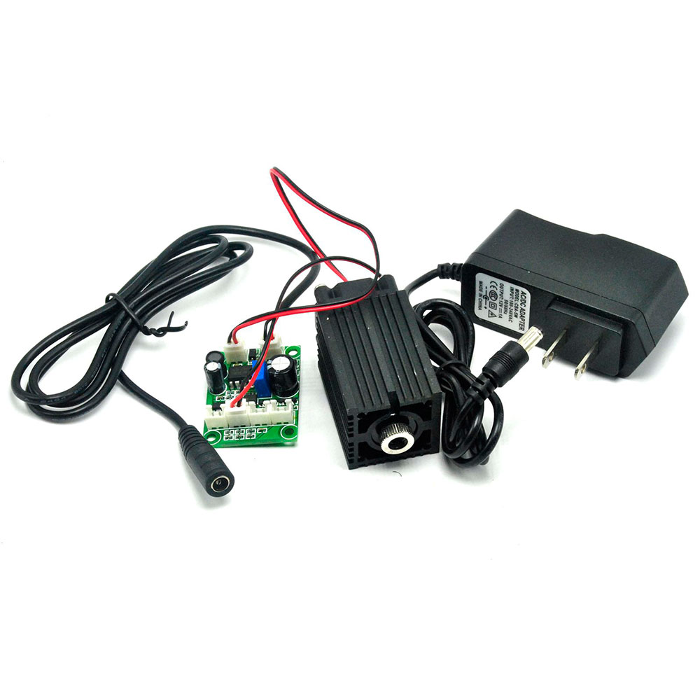 High Power Focusable 650nm 200mW Red Laser Diode Module with Focus Dot Head & 12V 1A Adapter TTL modulation and Fan Cooling