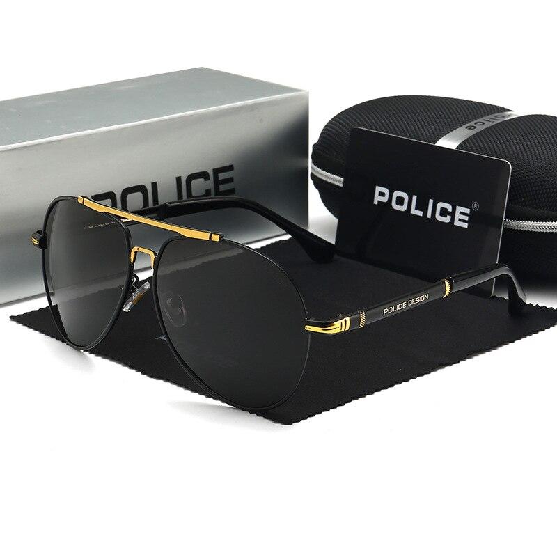 Мужские поляризационные солнцезащитные очки-авиаторы, брендовые дизайнерские солнцезащитные очки для вождения и рыбалки для мужчин, 758
