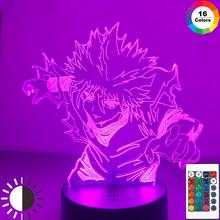 Anime Hunter X Hunter 3d lampka nocna dla dzieci dziecko dekoracja sypialni Nightlight Manga prezent Hunter X Hunter lampka nocna Dropshipping tanie tanio CHUBAN Night Light CN (pochodzenie) Noc światła Z tworzywa sztucznego Żarówki led Touch 110 v 220 v Suche baterii HOLIDAY