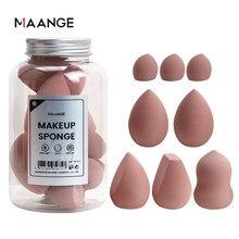 Maquillage éponge professionnel cosmétique bouffée plusieurs tailles pour fond de teint correcteur crème maquillage doux 2-8 pièces éponge bouffée en gros