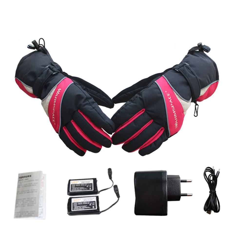 3.7V / 3600mAh Electric Rechargeable Heated Gloves Lithium Battery Winter Gloves Heated Ski Gloves Cycling Motorcycle Gloves