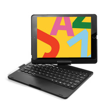 Für Neue iPad 7 10,2 2019 7 Farben LED Backlit 360 Grad Schwenker Smart Clamshell Drahtlose Bluetooth Tastatur Fall abdeckung