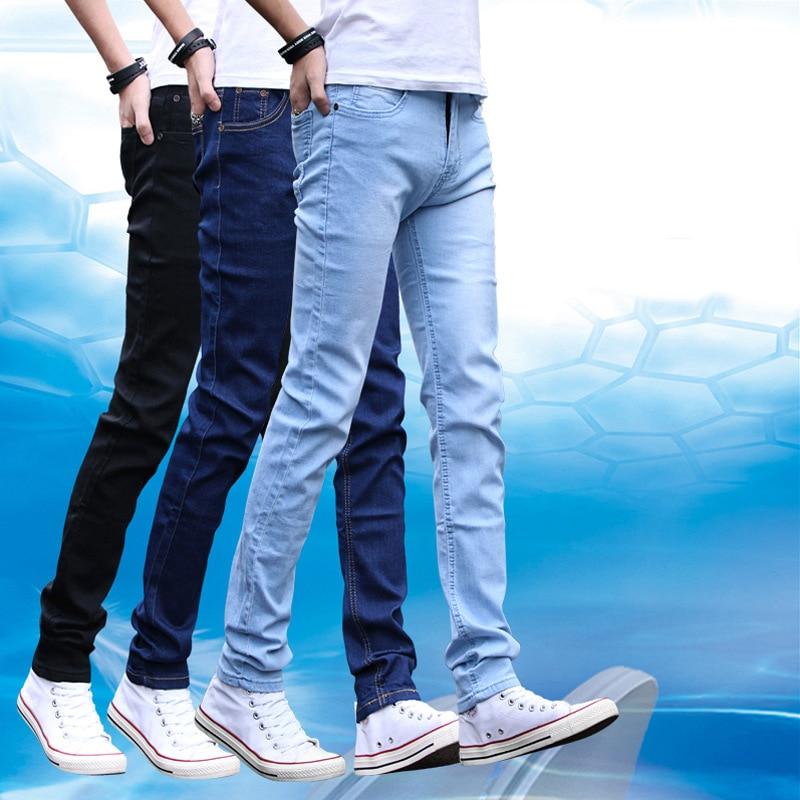 Men Popular Brand Elasticity Slim Fit Pants Jeans Spring And Autumn Korean-style Trend Casual Trousers Handsome Versatile Men's