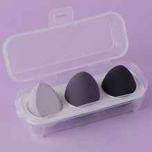3PCS Beauty Egg Sponge Puff Dry and Wet Makeup Tool Sponge Egg Lady Makeup Tool