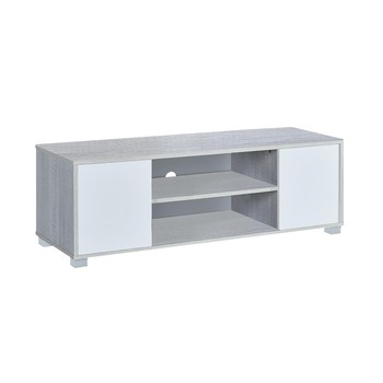 Mesa TV Color Roble Polar y Blanco