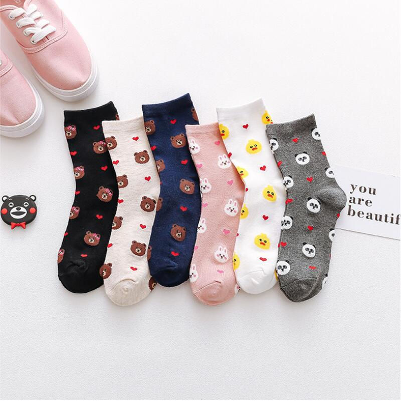 Best Selling Bear In The Tube Cotton Socks Women's Cartoon Cotton Socks Cute Wind Stocks Women Suitable For Autumn And Winter Socks