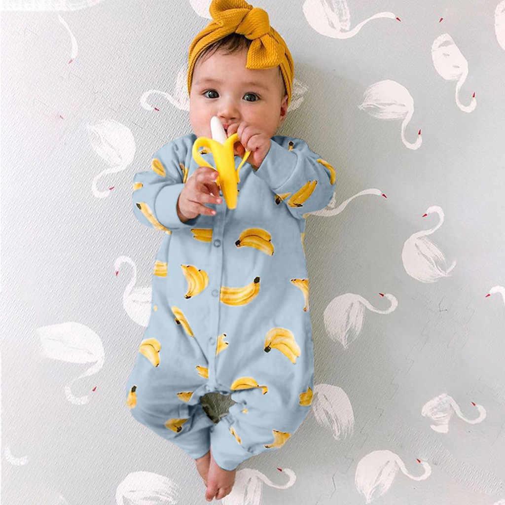 Pakaian Bayi Romper Bayi Bayi Bayi Anak Perempuan Anak Laki-laki Pisang Kartun Baju Monyet Jumpsuit Piyama Lembut Infantil Pakaian Kostum 2019