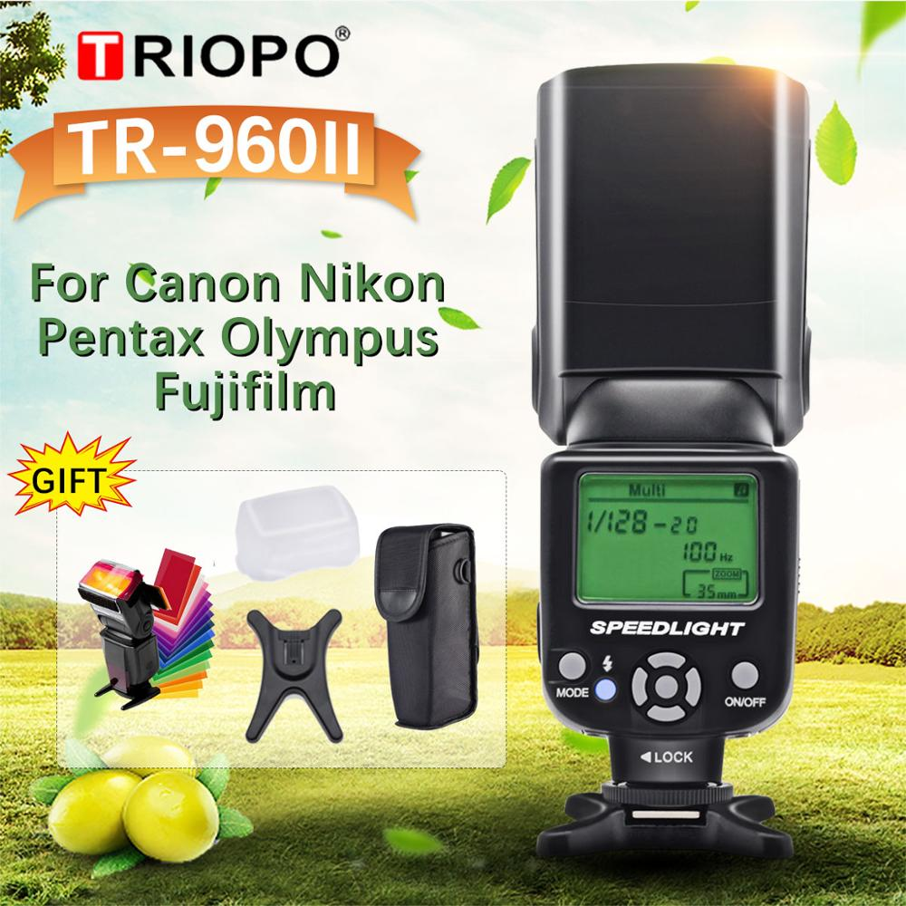 Universal para Nikon Triopo Flash Velocidadelite Manual Canon Dslr Tr-960ii Tr960ii