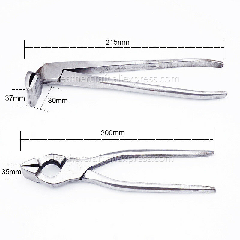 Image 3 - Leather Craft Fixed Pliers Edge Adjustment Clamp for Bag Purse Belt Handbag Making Tools Leather Press Flatten Wide Mouth Plier-in Leathercraft Tool Sets from Home & Garden