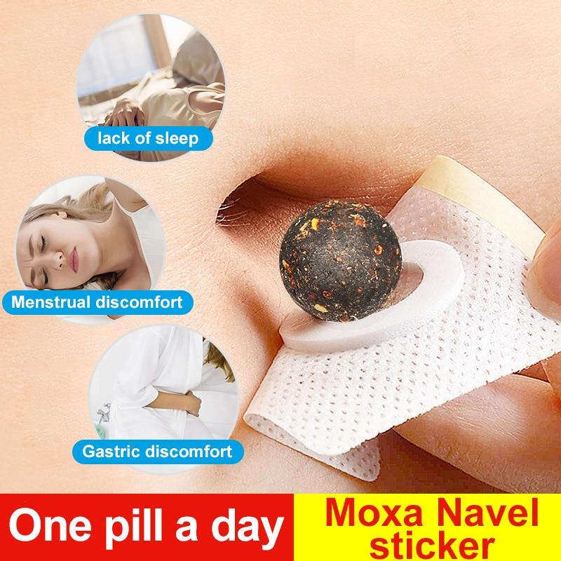 Cofoe 30pcs Moxa Belly Button Sticker Chinese Medicine Navel Sticker Warm Moxibustion Paste Detoxification Palace Cold Paste
