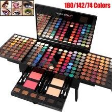 Maquiagem sets180/142/74 cores matte glitter sombra paleta em pó batom blush maquiagem escova profissional cosméticos kit