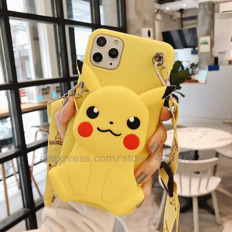 Coin Bags 3D Minnie Stitch Phone Case For Huawei P30 P20 P40 Lite E P40 Pro Honor Play 4T Pro P10 Cover Silicon Cartoon Case