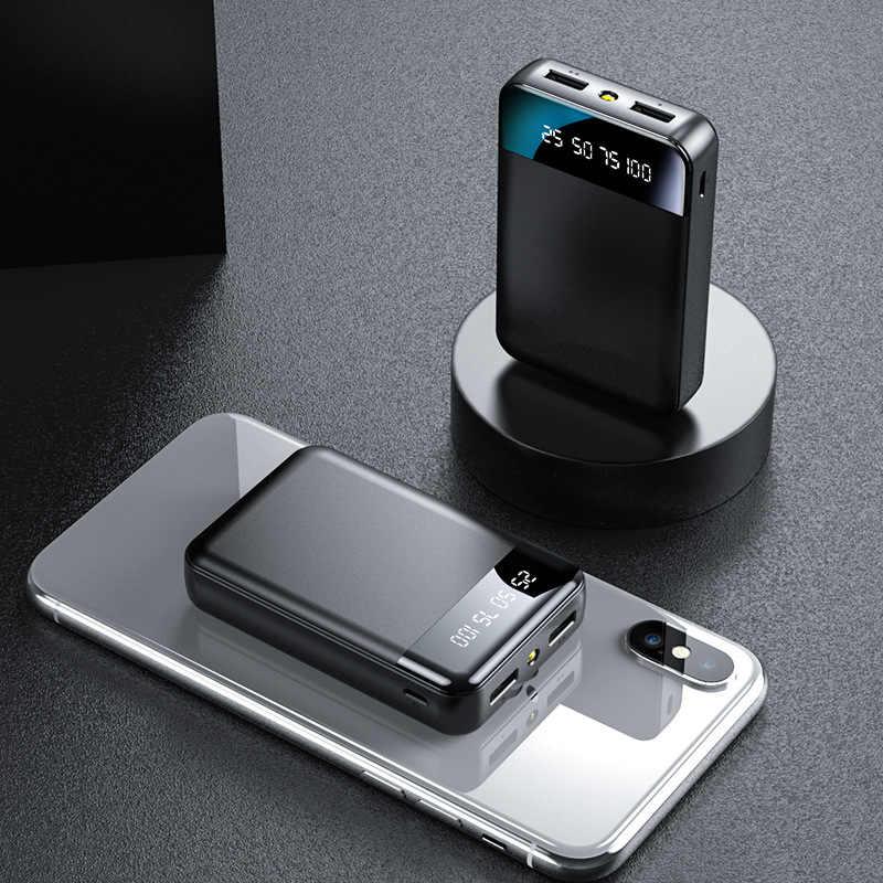 Banco de energía 30000mAh para teléfono inteligente cargador externo portátil de batería doble USB Powerbank Mini Poverbank Bateria