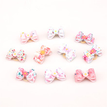 Dogs Bows Hair Accessories fruit ice cream Yorkshire terrier For Pets Supplies Hair Clips Grooming Table Bows kokardki dla psa