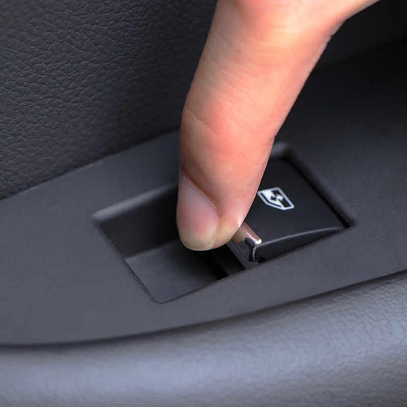 Hivotd لمازدا CX5 CX-5 CX 5 KF 2019 كروم الداخلية اكسسوارات نافذة السيارة رفع التبديل زر الترتر تقليم ملصقا سيارة التصميم
