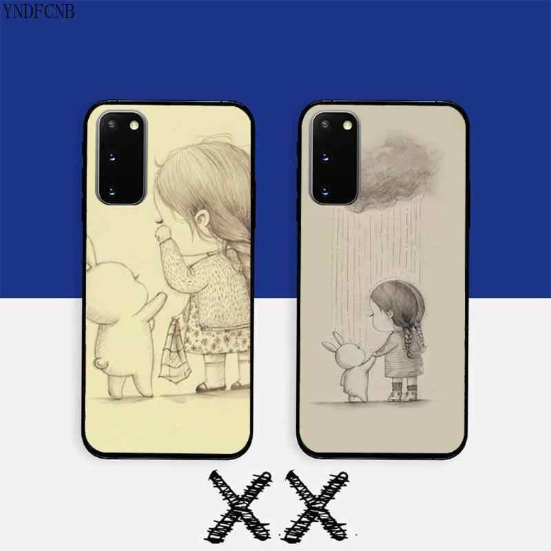 YNDFCNB irl и ее Кролик чехол для телефона Samsung S20 Ultra S10 S10e S8 S9 Plus S7 Edge Note 10 9 8 черный мягкий ТПУ чехол