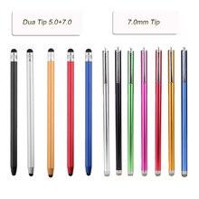 1 шт. Универсальный Металлический Мини емкостный стилус для телефона, планшета, ноутбука/емкостного сенсорного экрана устройства 7,0 мм/5,0 мм+ 7,0 мм