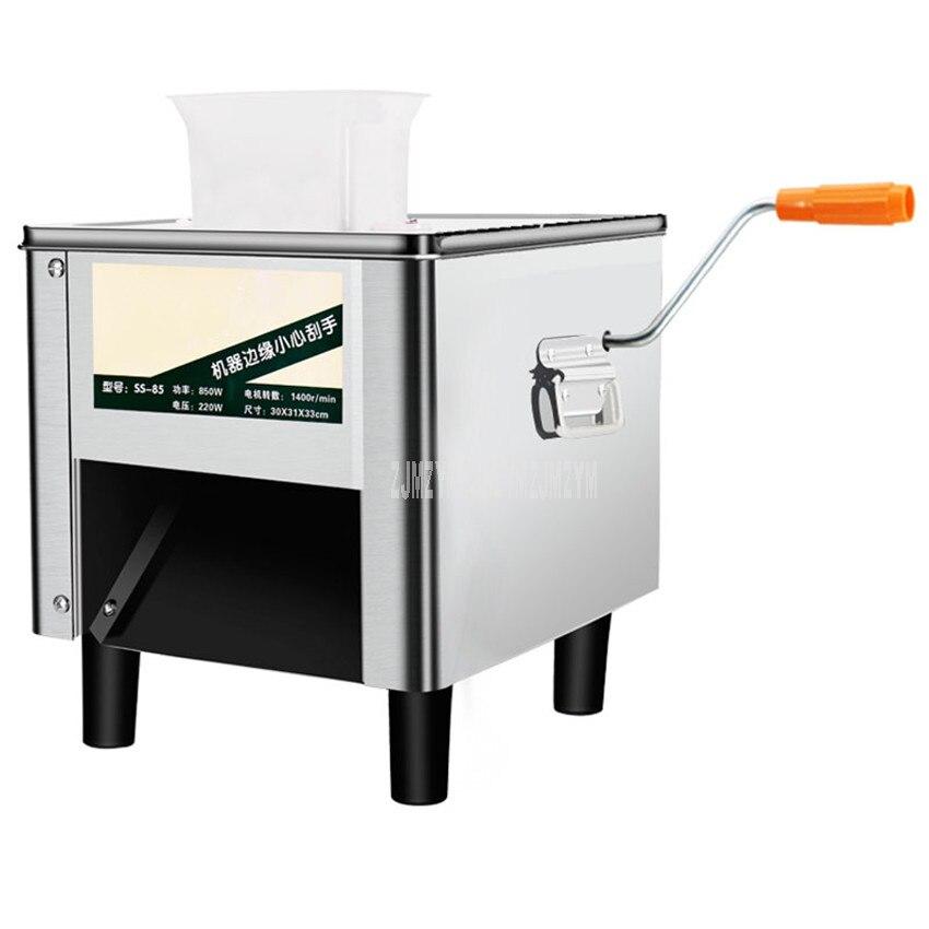 상업 전기 고기 커터 슬라이서 절단기 스테인레스 스틸 전체 자동 야채 고기 슬라이싱 기계 850 w 220 v-에서고기 글라인더부터 가전 제품 의 title=