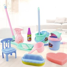 Toys Broom Play-House Cleaning Kids Children Gift Model-Toy-Set Puzzle Simulated Sanitary-Mop
