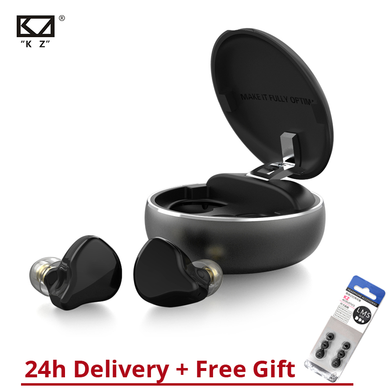 KZ T1 TWS 5.0 Bluetooth Earphones Wireless Earphone Touch Control Hybrid HIFI Bass Earbuds Sport Noise Cancelling Inear Earphone