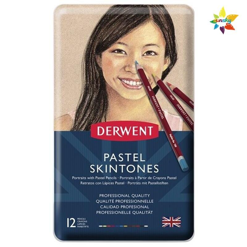 Derwon Skin – Crayons De Couleur Pastel De 12 couleurs, Crayons De Couleur britannique, pour artistes professionnels